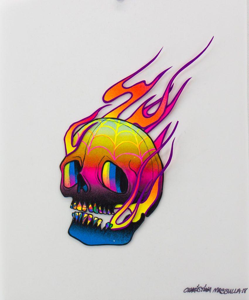 Flaming Skull - Christina Mazzulla